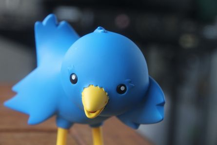 The Twitteriffic blue bird as a 3D representation
